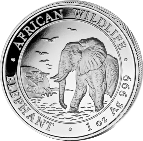 African Wildlife Elephant 2010 - 1 oz