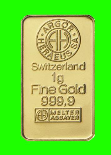 Zlatý slitek 1 gram