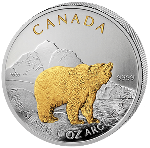 Grizzly 1 oz 2011; zlacené