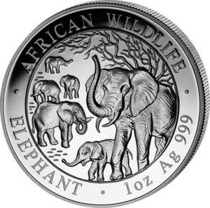 African Wildlife Elephant 2008 - 1 oz