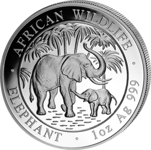 African Wildlife Elephant 2007 - 1 oz