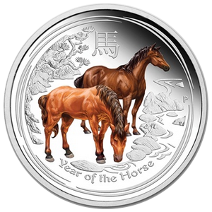 Year of the Horse  2014 - 1 oz; barevná