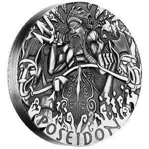 Poseidon 2 oz Gods of Olympus 2013 Tuvalu